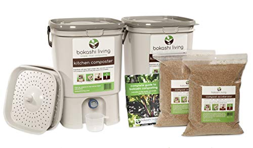 Bokashi Composting Starter Kit (Includes 2 Bokashi Bins, 3.5lbs of Bokashi Bran and Full Instructions)