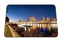 26cmx21cm マウスパッド (ブリスベンオーストラリア夜川ブリッジライトパーク) パターンカスタムの マウスパッド