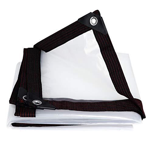 XJJUN Cubierta De Lona Impermeable, Tela Transparente A Prueba De Lluvia para Balcón, Tela De PVC Aislante, Tela A Prueba De Lluvia A Prueba De Polvo, Personalizable (Color : Claro, Size : 2x6m)