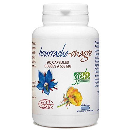 Bourrache-Onagre Bio - 503 mg - 200 capsules marines