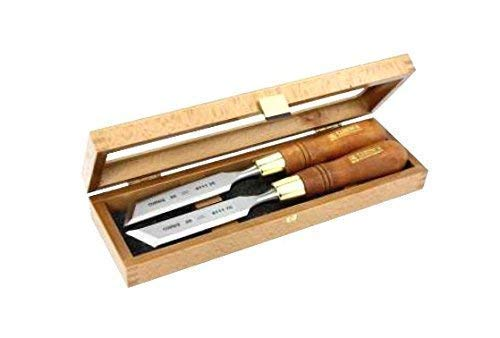 Narex - Juego de cinceles sesgados en caja de madera (2 unidades, 26 mm de diámetro)