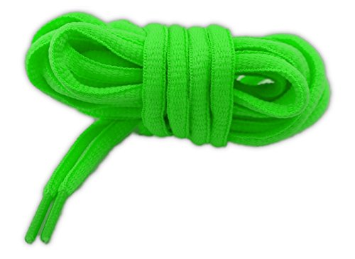 NEON Schnürsenkel Sport OVAL 125cm Hochwertige Qualität Grün