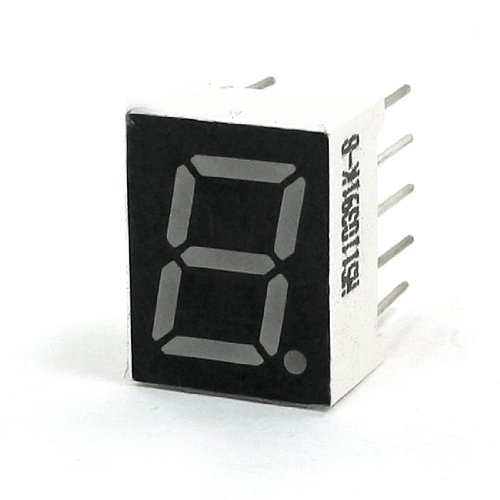 Aexit Un dígito 7 Segmento Ánodo común Pantalla LED (model: X9548VIX-7275YC) roja Tubo digital