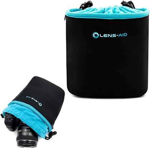 Lens-Aid Neopren Kamerabeutel mit Fütterung zum Schutz der Kamera-Ausrüstung, Kameratasche für Rucksack und Handtasche als Einschlagtuch-Ersatz (M)