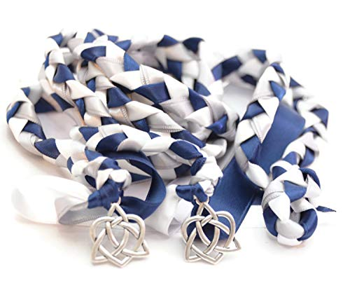 Divinity Braid Navy Silver Celtic Heart Knot Wedding Handfasting Cord V4#Handfasting #Celtic #CelticHandfasting #Wedding #WeddingHandfasting