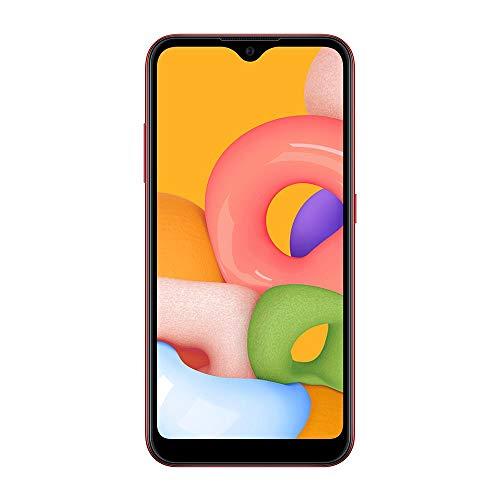"Smartphone Samsung Galaxy A01 32GB Tela 5.7"" Camera 13MP Vermelho"