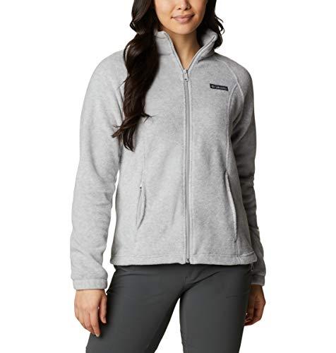 Columbia Damen Benton Springs Classic Fit Full Zip Soft Fleece Jacket Fleecejacke, Cirrus Grey Heather, X-Large