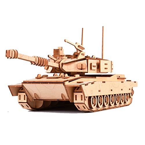 Batop 3D Puzzle Holzpuzzle, 214Pcs M1 Panzer Lasergeschnittenes Holzpuzzle Montage Konstruktor Kit - Kreatives Geschenk für Erwachsene Kinder