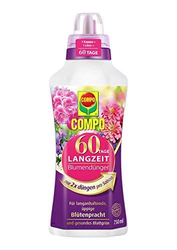 Compo 60 Tage Langzeit Blumendünger für alle Zimmer-, Balkon- und Terrassenpflanzen, Universaldünger mit Langzeitwirkung, 750 ml