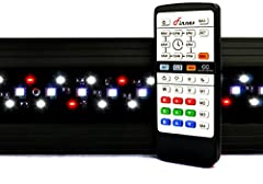 Aquarium LED light: Finnex planted+ 24/7 CRV LED light 24/7 mode: fully customizable LED sunrise & Sunset Plants: Plant capable grow LED bulb configuration Led: controllable LED Fixture with 4 bulb - Green, Red, blue, daylight Remote included +built ...