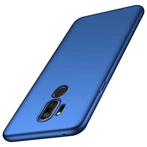 Arkour Cover LG G7 ThinQ, Custodia LG G7, Minimalista Ultra Sottile Case con Superficie Opaca Liscio Rigida Custodia per LG G7 ThinQ (Blu Liscio)