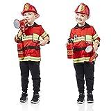 Milly & Ted - Juego de Disfraces de Bomberos - Traje de Juego de Roles para niños - Vestido de...
