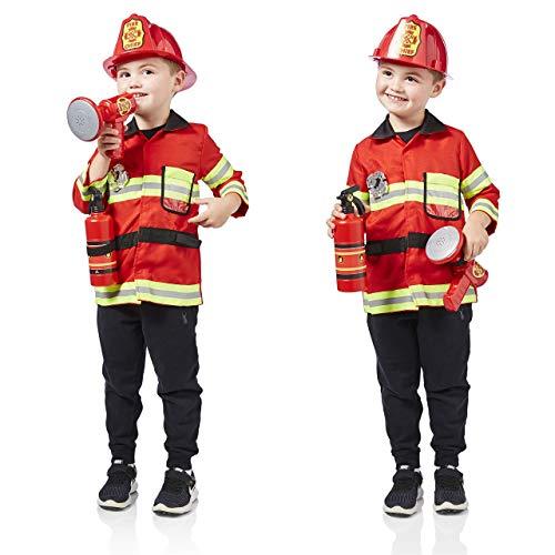 Milly & Ted - Juego de Disfraces de Bomberos - Traje de Juego de Roles para niños - Vestido de niño