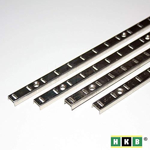 Hettich 4 Stück Bodenträgerschiene Vari Fachbodenträger Möbelbodenträger Löffelbodenträger Vari