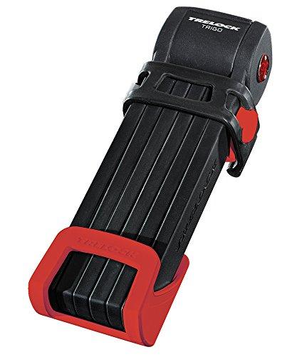 Trelock Faltschloss Trigo FS 300/85 mit Kunststoffhalter Schloss, rot, 85 x 10 x 10 cm