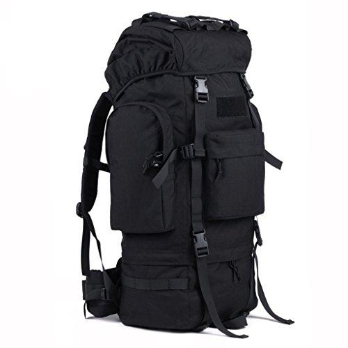 sac à dos randonnée alpinisme étanche hommes et les femmes sac à dos sac de voyage 65L Sacs à dos de randonnée ( Couleur : Noir , taille : 65L )