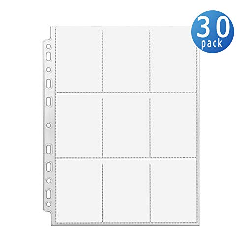 270 Pockets Trading Card Sleeves Storage Wallets Album Pages, Transparent Game Card Sleeves Holder Coin Holders Wallets Sleeves Set Perfect for Pokemon,Skylanders, Top Trumps