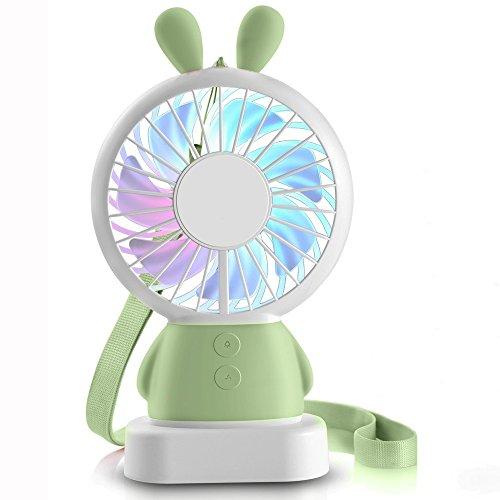 Hebey Mini Fan Handkühlung Personal Hand (Grüne Kaninchen)