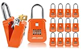 Lion Locks 1500 Key Storage Realtor Lockbox, Set-Your-Own Code Lock Portable Key Holder, Rust-Proof Secure Outdoor Key Safe, Hide-a-Key Safe Box Realtor Lock Box, Airbnb, Construction (12-Pack/Orange)
