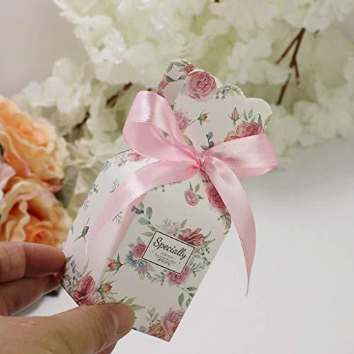 BINGMAX 50Pcs Gastgeschenk Süßigkeiten Schachtel Mini- Koffer Hochzeit Geschenkbox, Süßigkeiten Schachtel