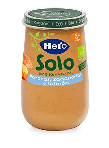 Hero Solo Tarrito de Patatas, Zanahoria y Salmón Ecológicos 190g