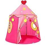 Tienda Campaña para Niños, Castillo de la Princesa, Carpa con Juego de Pitcheo, Pop Up Carpa Infantil, Regalo para...