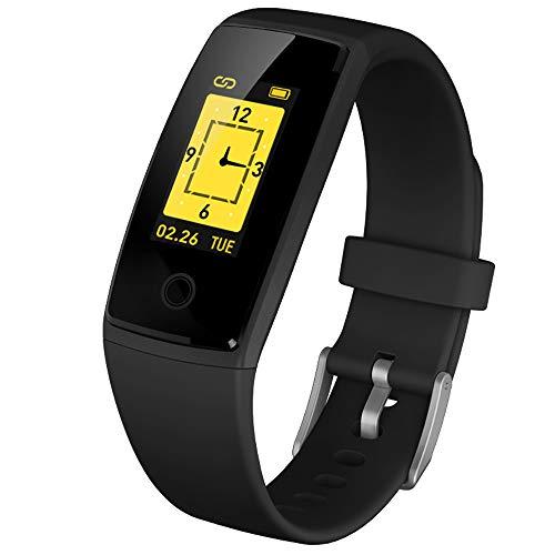 CE elf Donna Fitness Tracker Sport Smart Watch, 20 promemoria Allarme specifici per Donna Ciclo fisiologico Tracker smartwatch cardiofrequenzimetro Monitor Intelligente per Il Sonno,Black