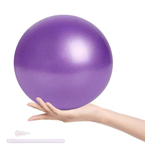 Pelota de Mini Pilates 25cm Pelota de Ejercicios de Sports Balón de Yoga para Ejercicios Abdominales Masaje y Gimnasio en Casa y Ejercicios básicos de rehabilitación de Hombros (Púrpura)
