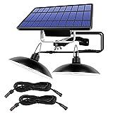 SKSNB Aplique de Pared Solar LED, Luces solares de Doble Cabezal...