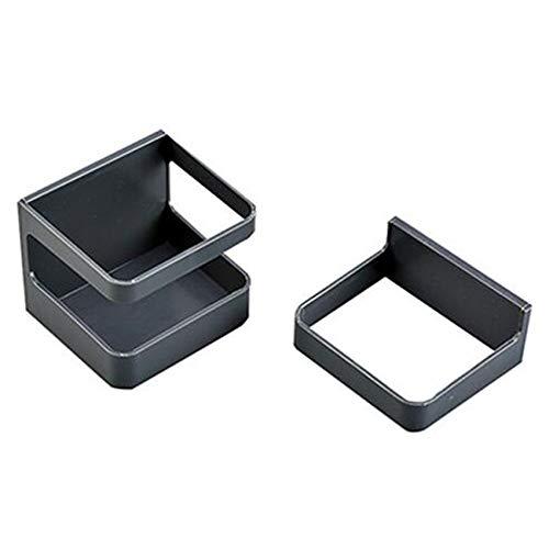 ZNMUCgs - Paragüero de plástico para montar en la pared, organizador de ahorro de espacio, para almacenar bastones largos y cortos, color gris y negro
