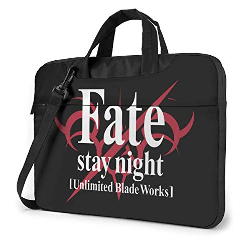 15.6″Lightweight Laptop Notebook Shoulder Backpack Bag Fate Stay Night Waterproof PC Briefcase Messenger with Strap