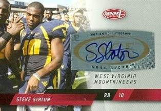 Autograph Warehouse 99680 Steve Slaton Autographed Football Card West Virginia 2008 Sage Aspire Rookie No. A16