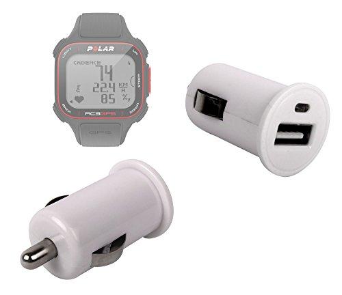 DURAGADGET Adaptador De Coche con Puerto USB para Reloj Polar RC3 GPS Bike