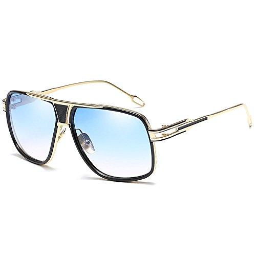 SHEEN KELLY Occhiali da Sole Unisex Massima Protezione UV 400 Retrò Occhiali Da Sole Blu