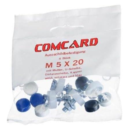 Alex Onlineshop 10x Blau Abdeckkappen Kappen Für Kennzeichen Schrauben Nummerschild Schrauben Für Pkw Lkw Motorrad 10x Blau Auto