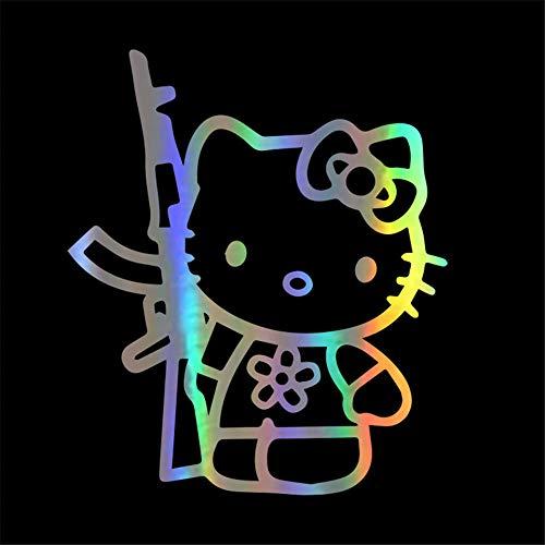 ZQZL Etiqueta engomada del Coche Hello Kitty calcomanía calcomanía Personalidad Divertida Accesorios de Moda Ventana decoración de la Pared Pegatina 13,5 * 16 CM