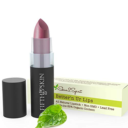 Fifth & Skin (POPPIN PLUM) Better'n Ur Lips Natural Lipstick - Organic Lipstick - Gluten Free Lips - Cruelty Free Lip Color - Vegan - Lead Free - Paraben Free - Clean, Moisturizing Lip Color