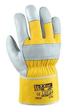"36 Paar - Rindvollleder-Handschuhe, ""K2"" - teXXor® - 1108 - Größe 12"