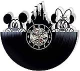 Reloj de pared de vinilo retro de vinilo reloj de pared de diseño moderno decoración de la sala de estar Reloj de pared silencioso Reloj de pared de vinilo-Senza_luce_LED