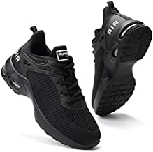 Women Air Athletic Running Shoes - Air Cushion Shoes for Womens Mesh Sneakers Fashion Tennis Breathable Walking Gym Work Shoes All Black