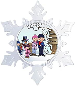 Amazon Com Printed Perfection Personalized Gifts Snowman Family 1 Boy 1 Girl Ff