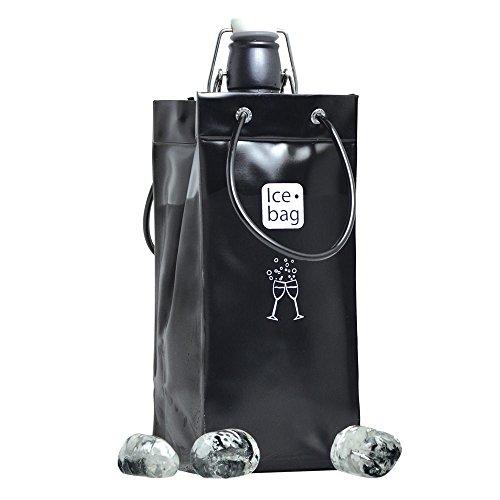 Ice Bag 17426 Rafraîchisseur à bouteille PVC Noir 11 x 11 x 25,5 cm