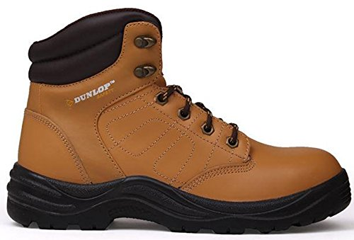 Heren Logo Lederen Laced Dakota Safety Boots Werkkleding