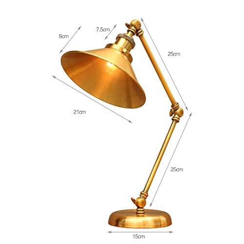 Architetto Task lampada del braccio dell'oscillazione Desk Lamp illuminazione regolabile da tavolo Industrial Light Vintage Desk Lamp creativa Lungo braccio lampada da tavolo Lampada