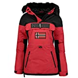 Geographical Norway - Parka para mujer con capucha Bruna Lady, rojo, XL