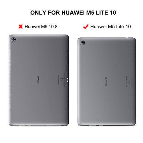 ELTD Hülle für Huawei MediaPad M5 Lite 10,Ultra Lightweight Flip mit Ständer und Eingebautem Magnet Hochwertiges PU Leder Schutzhülle für Huawei MediaPad M5 Lite 10 10.1 Zoll 2018 [Schwarz] - 2