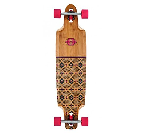 Globe Longboard Spearpoint, Red/Bamboo, One size