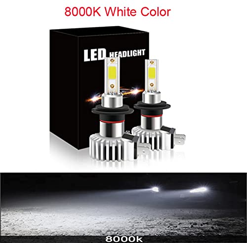 Faros 80W LED Faro de coche H1 H11 H3 H7 H4 9005 9006 880 COB 12V 24V 12000LM 3000K 6000K 12000K Mini Mini Auto D9 Lámpara Estilo xenón ( Emitting Color : 8000K , Socket Type : H7 )