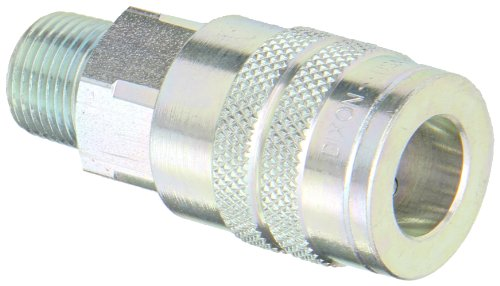Dixon Valve 3FM3 Steel Manual Industrial Interchange Pneumatic Fitting, Socket, 3/8 Coupler x 3/8 - 18 NPTF Male Thread by Dixon Valve & Coupling