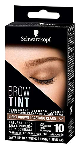 Schwarzkopf Brow Tint - Tinte De Cejas Castaño Claro Tono 5.1 (Pack de 3)